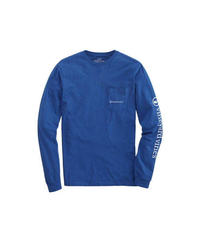 Blue Water Outing Long-Sleeve Pocket Tee