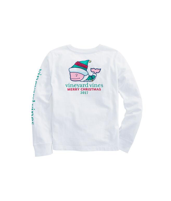 Girls Long-Sleeve Elf Whale Pocket Tee