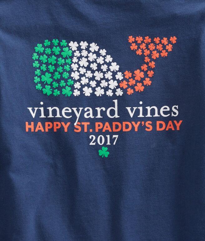 Boys Long-Sleeve St. Patrick's Day Whale Pocket T-Shirt