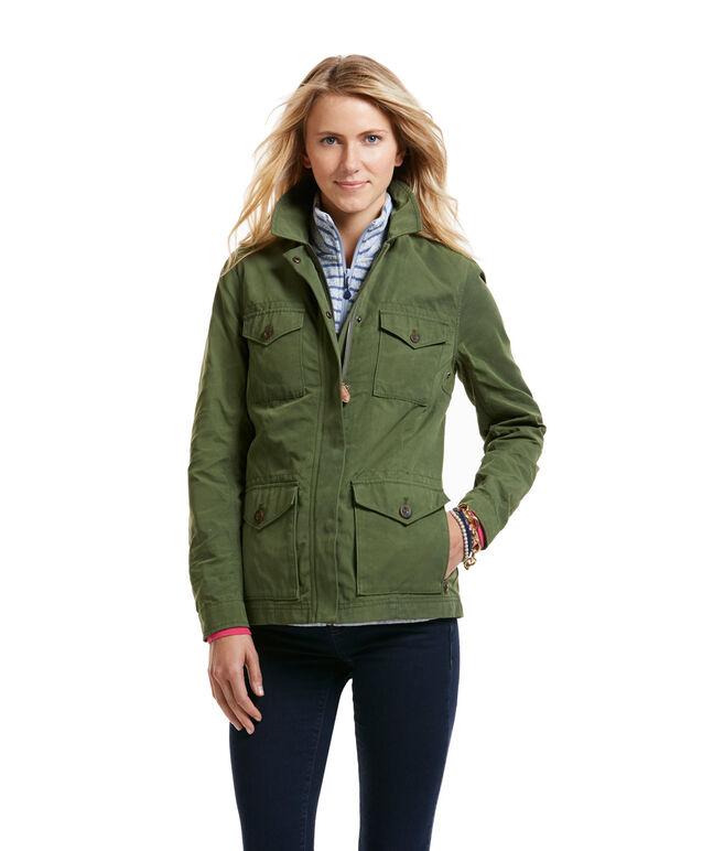 Shop Waxed Cotton Parka Jacket at vineyard vines