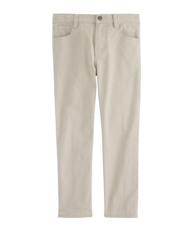 Boys Canvas 5-Pocket Pants