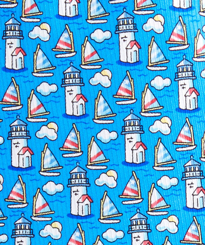 Nantucket Lighthouse & Cloud Tie