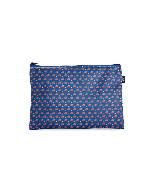 Sea Bags Flag Print Pouch