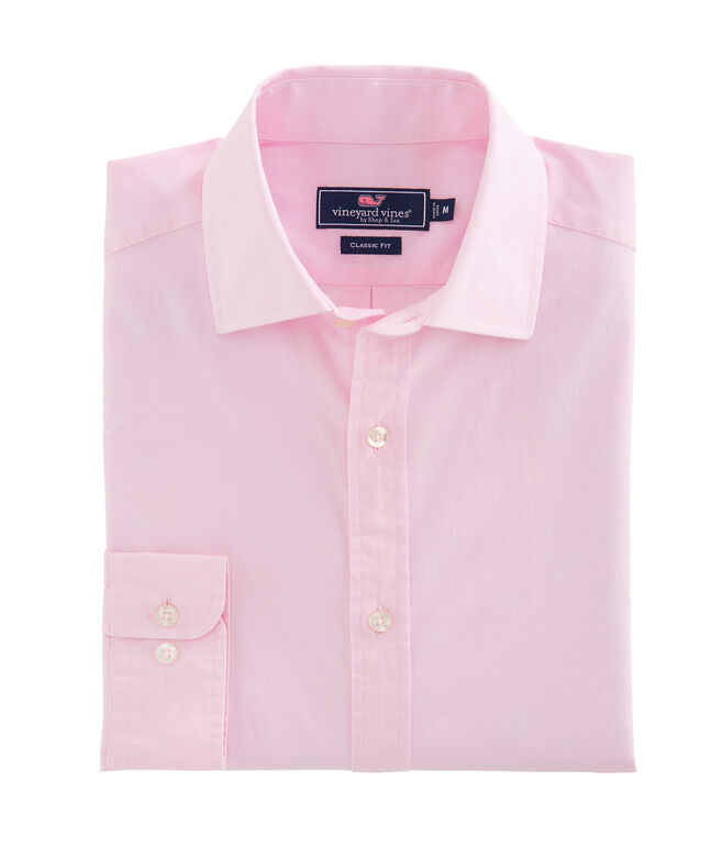 Solid Pink Classic Fit Burgee Shirt