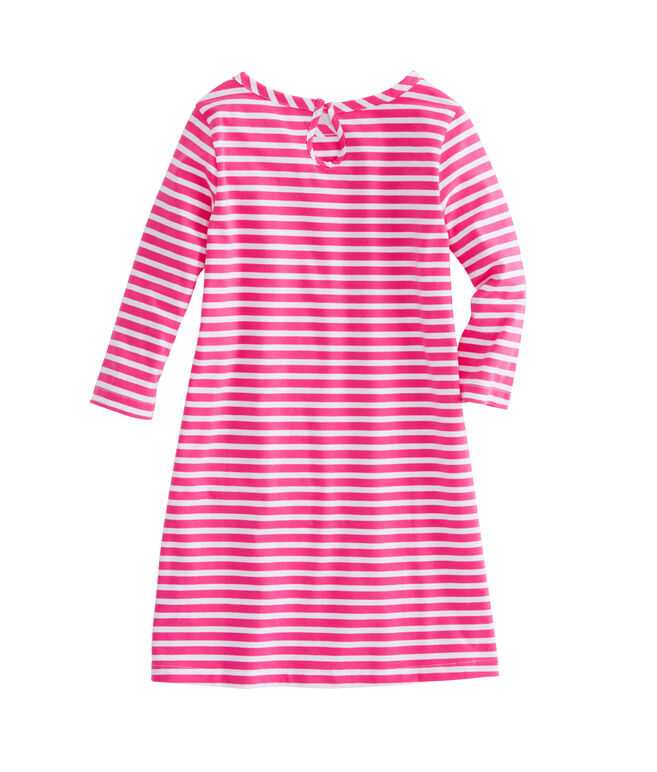 Girls Stripe 3/4-Sleeve Knit Dress