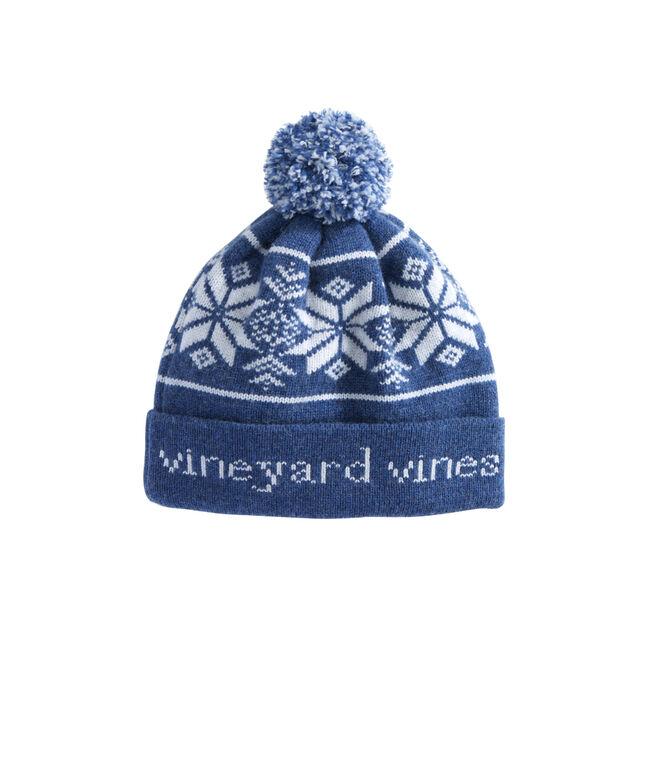 Blue Fair Isle Knit Hat