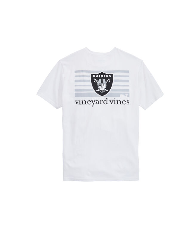 Oakland Raiders Block Stripe Tee