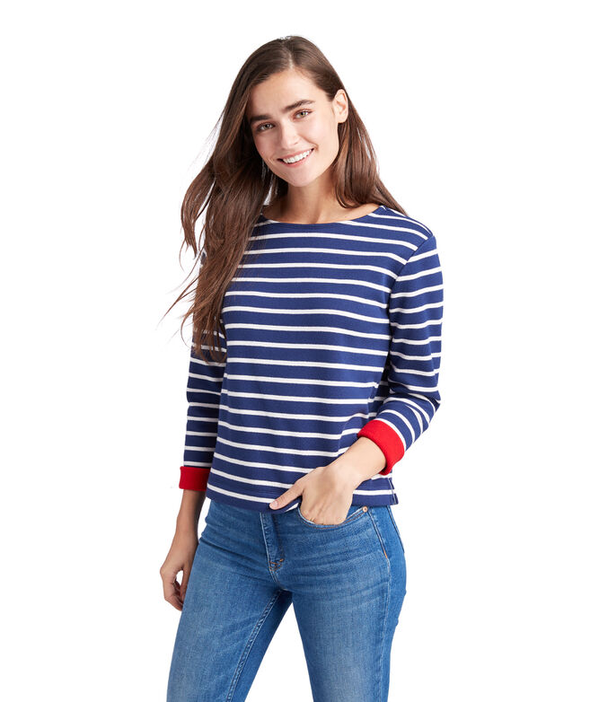 Striped Doubleface Pullover