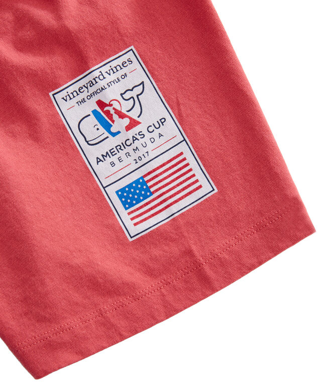 America's Cup Cup & Flags Pocket T-Shirt