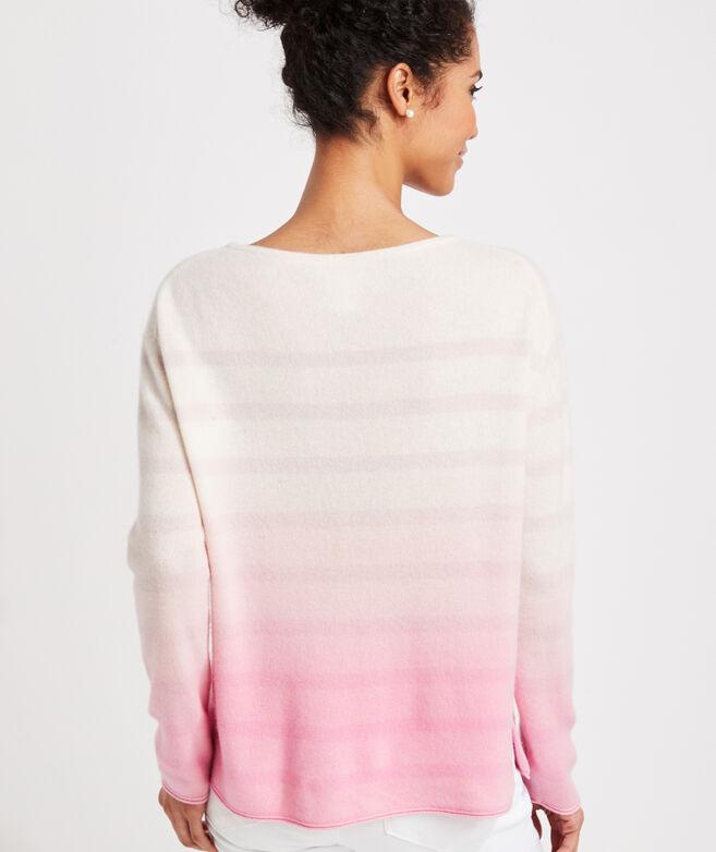 Cashmere Dip-Dye Fine Gauge Boatneck Sweater