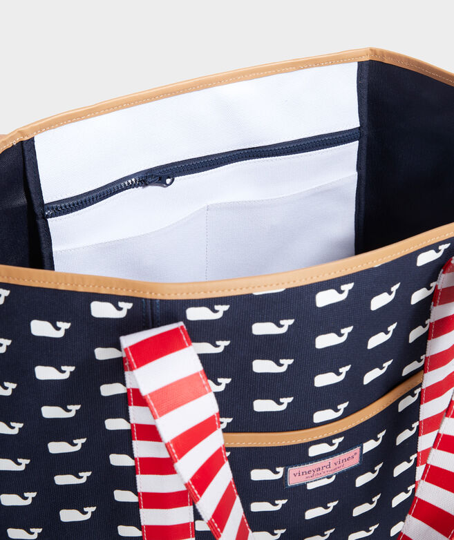 Whales & Stripes Mix Print Tote