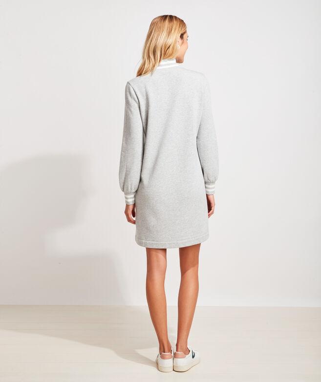Varsity Tipped Sweatshirt Dress