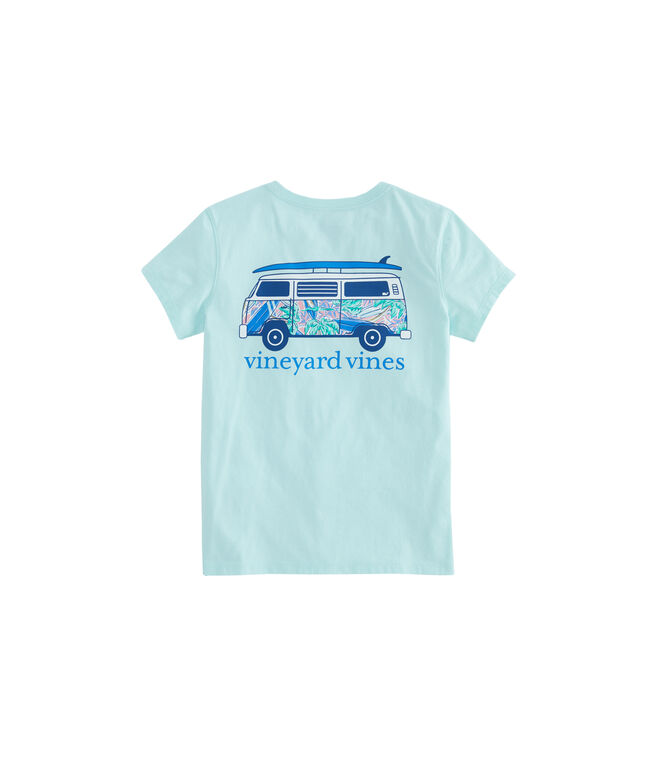 Girls Bus Short-Sleeve Pocket Tee