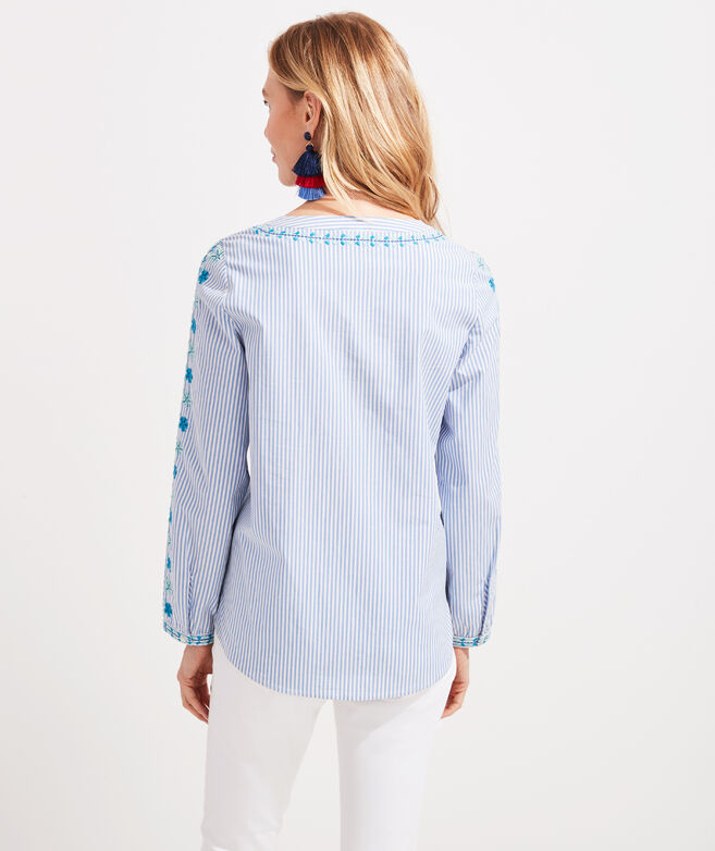 Pop Embroidered Savannah Popover