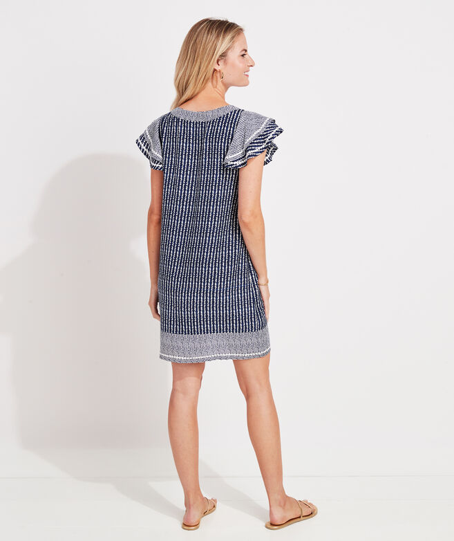 Dot Stripe Vineyard Tunic Dress