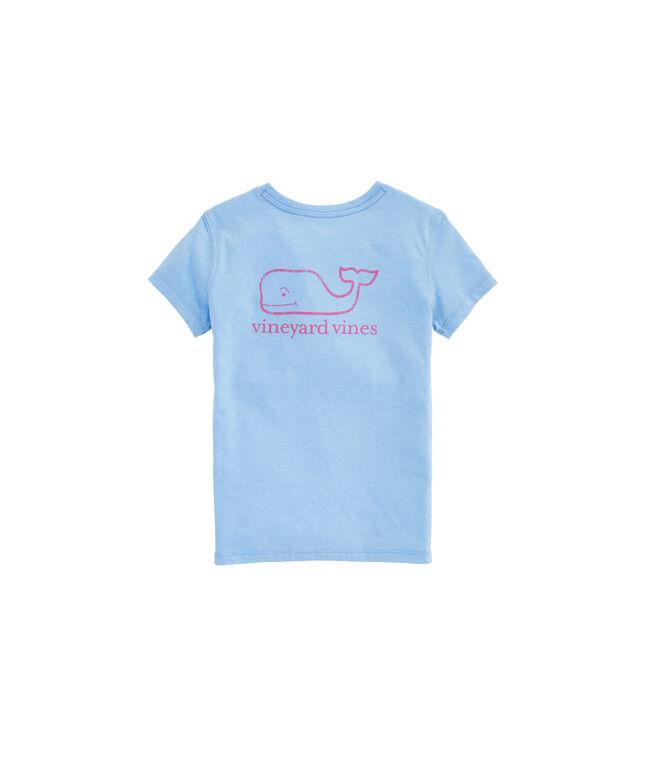 Girls Heather Vintage Whale Island Tee