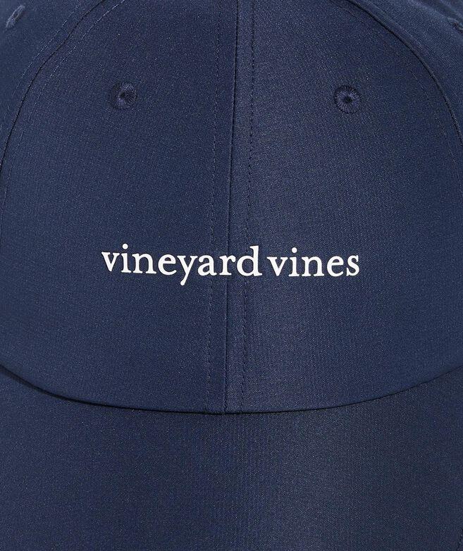 vineyard vines Logo On-The-Go Performance Baseball Hat