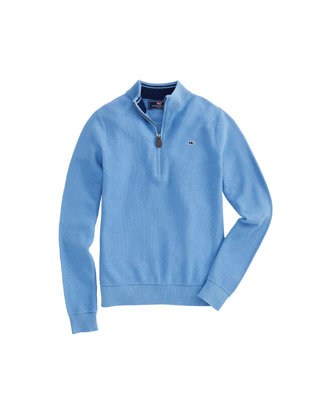 Boys Classic Zip Mock Neck Sweater