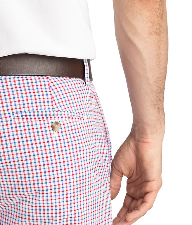 9 Inch Seersucker Gingham Breaker Shorts