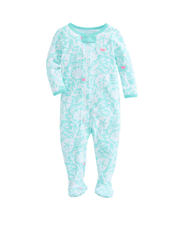 Sea Life Zip Footed Onesie