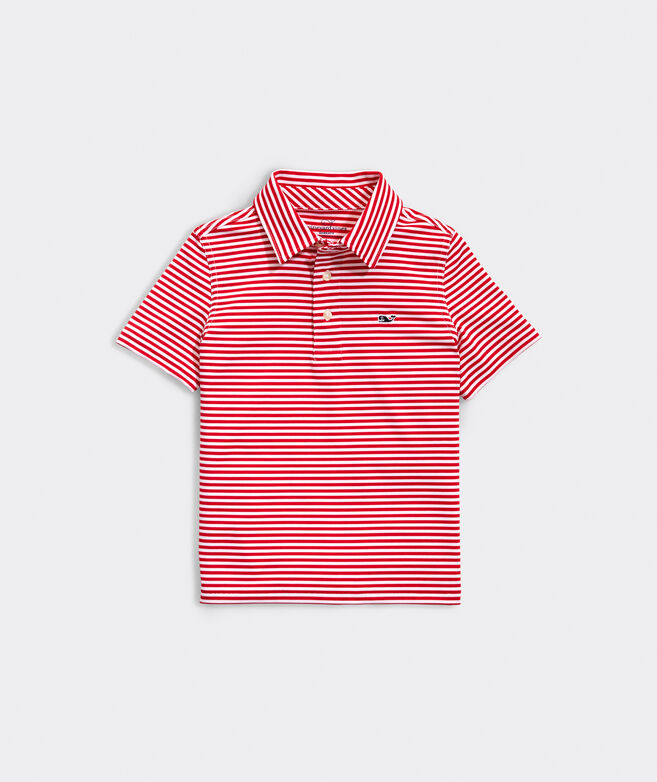 Boys' Winstead Stripe Sankaty Performance Polo