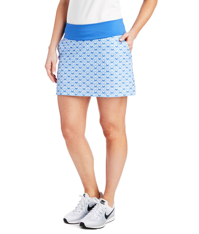 17 Inch Printed Whale Tail Sport Skort