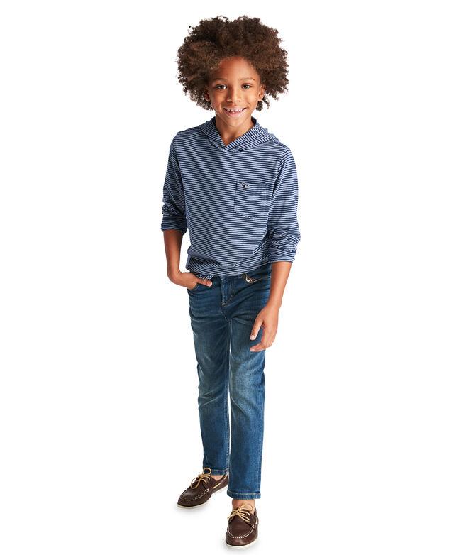 Boys Edgartown Stripe Long-Sleeve Hoodie T-Shirt