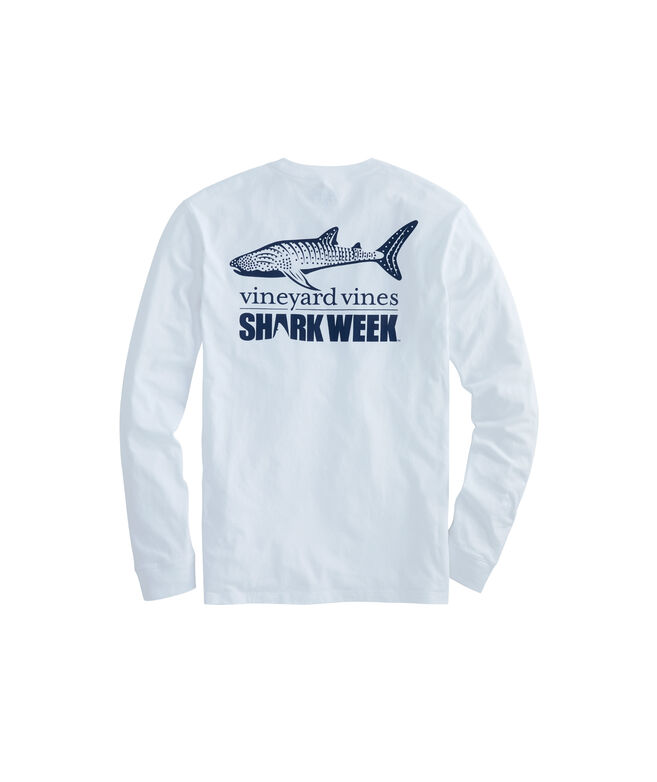Adult Shark Week Long-Sleeve Whale Shark Pocket T-Shirt