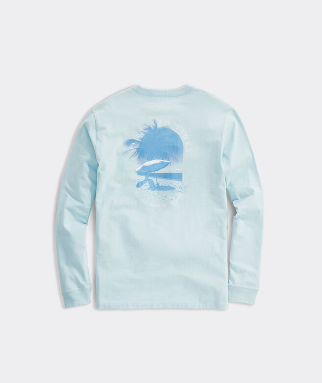 Palm Tree Scene Long-Sleeve Tee