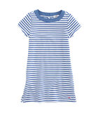 Girls Stripe Knit Chambray Dress
