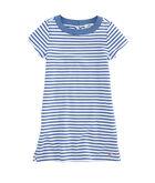 Girls Stripe Knit Chambray Dress