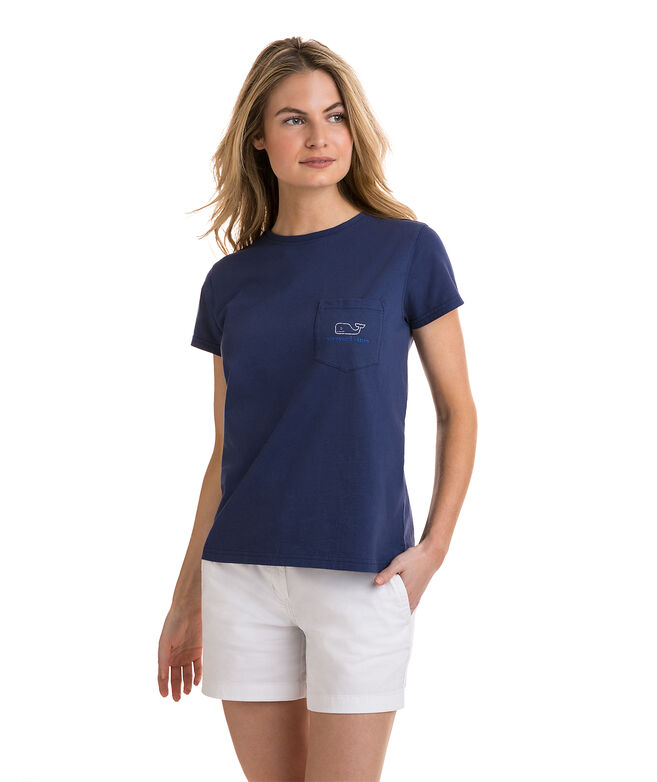 Vintage Whale Relaxed Pocket Tee