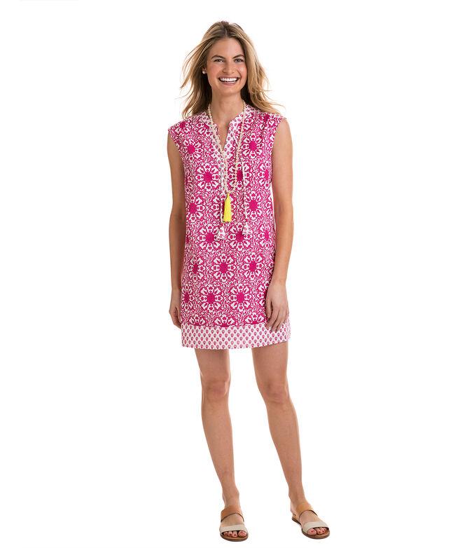 c80a47d6efc8 Shop Tile Medallion Print Tunic Mix Dress at vineyard vines
