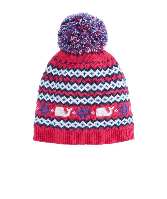Girls Fairisle Knit Hat
