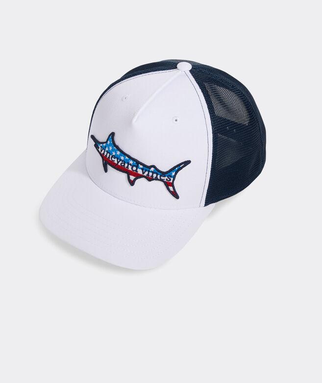 Flag Marlin Performance Trucker Hat