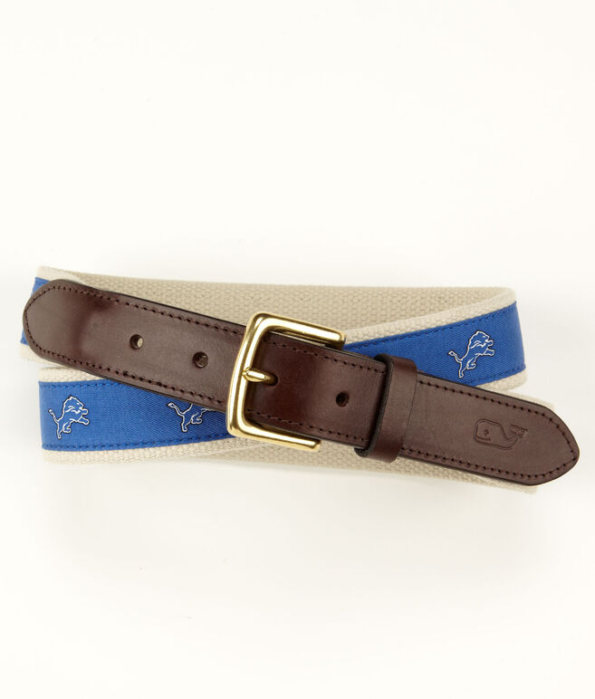 Detroit Lions Canvas Club Belt
