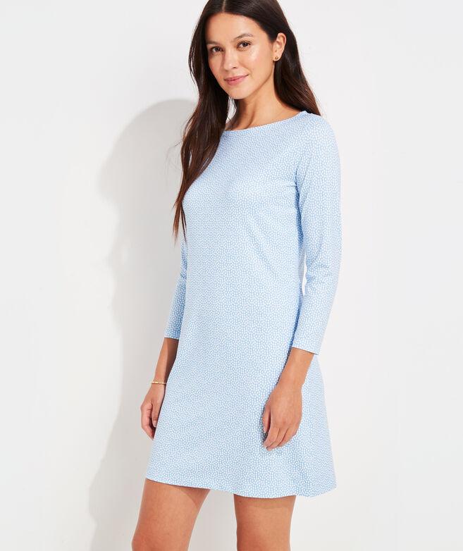 Printed Sankaty Boatneck Dress