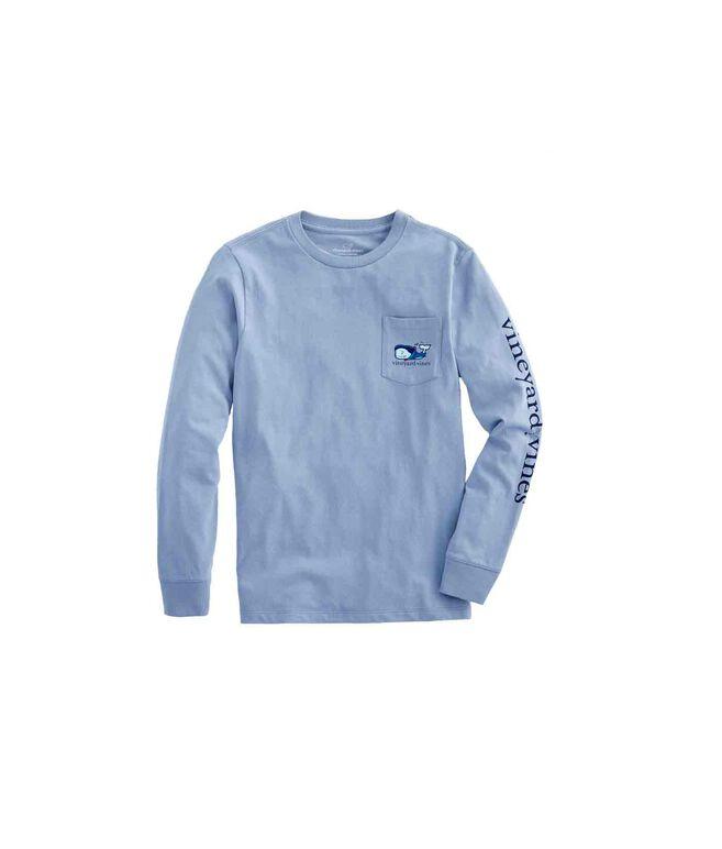 Boys Long-Sleeve Vampire Whale Pocket T-Shirt