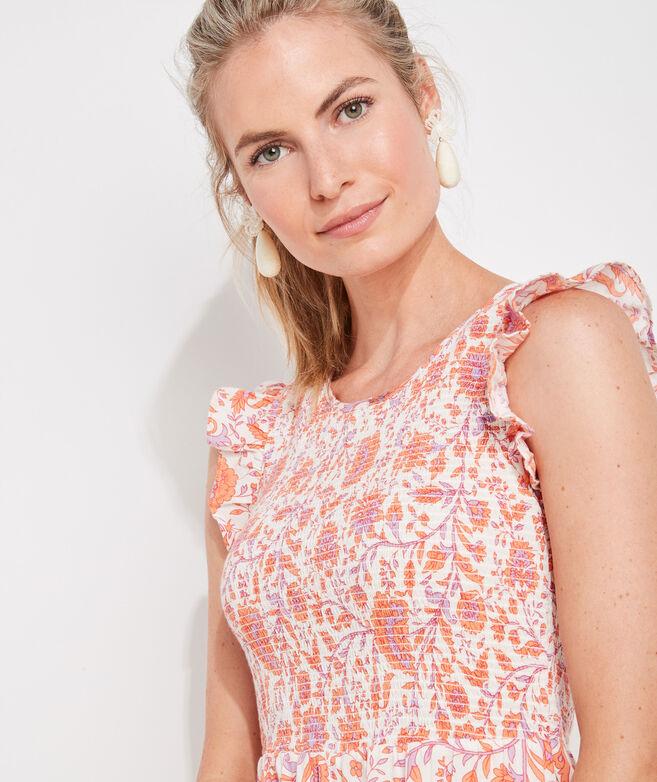 Marigold Smocked Midi Dress