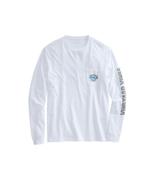 Long-Sleeve Bonefish Diamond Pocket T-Shirt