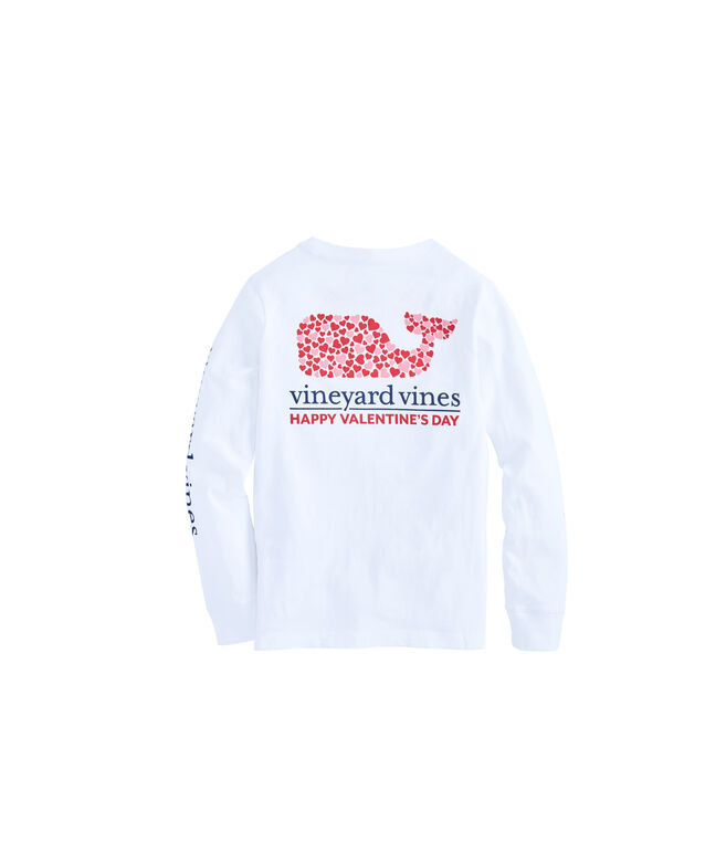 Boys Long-Sleeve Valentine's Day Whale Pocket T-Shirt