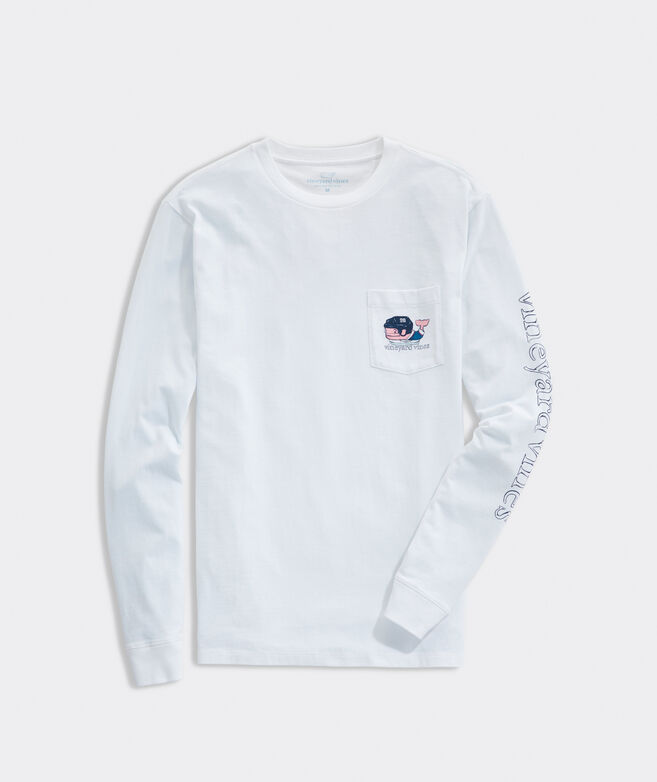 Painted Hockey Whale Long-Sleeve Pocket Tee