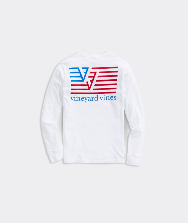 Boys' VV Flag Long-Sleeve Pocket Tee