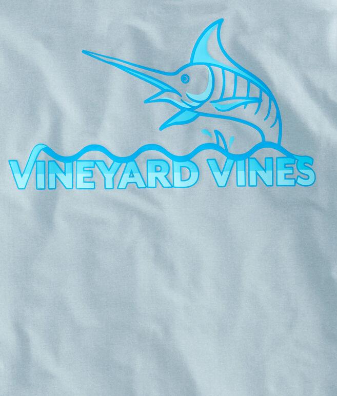 Long-Sleeve Performance Heathered Soaring Marlin T-Shirt