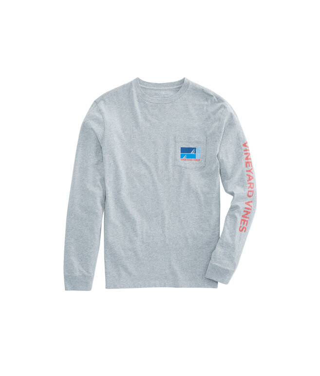 Long-Sleeve Sailing Blues Pocket T-Shirt
