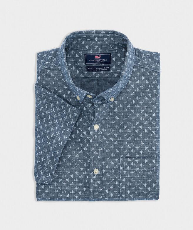 Slim Fit Finn Murray Short-Sleeve Button-Down Shirt