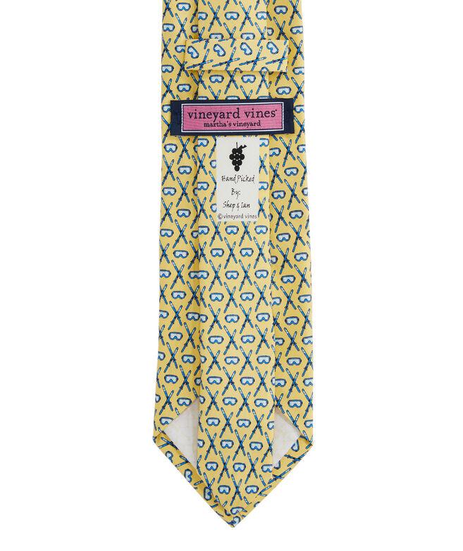 Crossed Skis Printed Tie