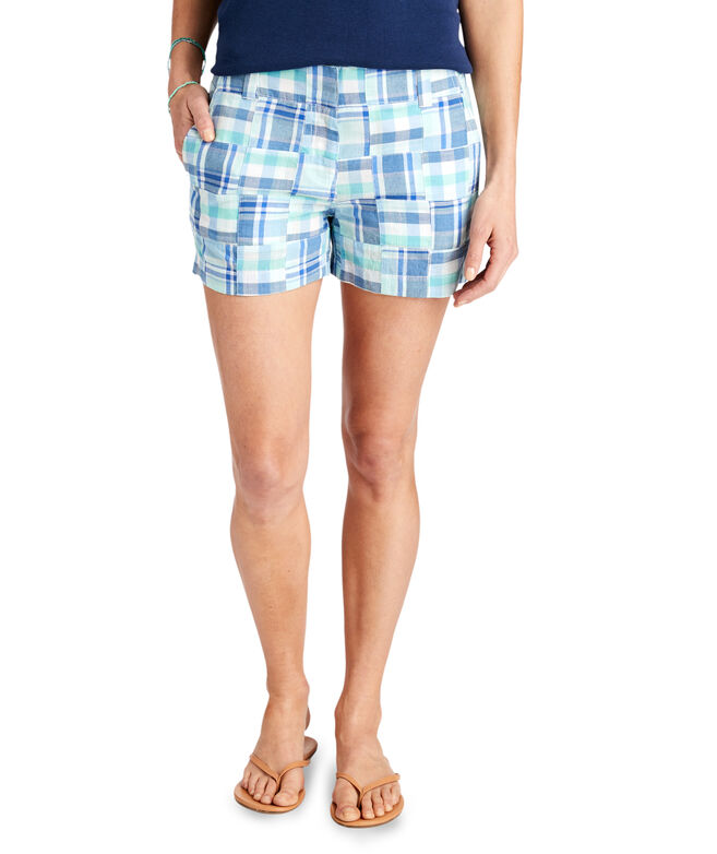 3 1/2 Inch Madras Patchwork Every Day Shorts