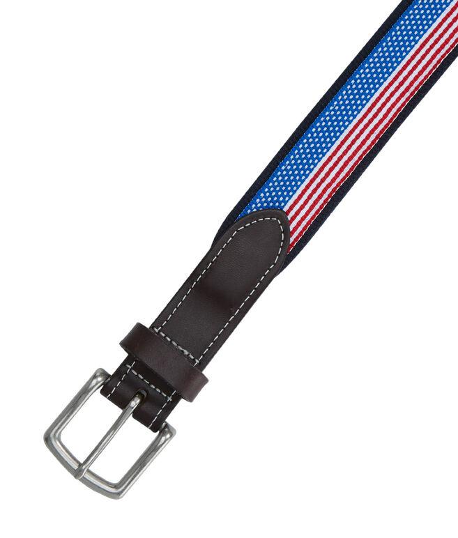 Flag Ribbon Canvas Club Belt