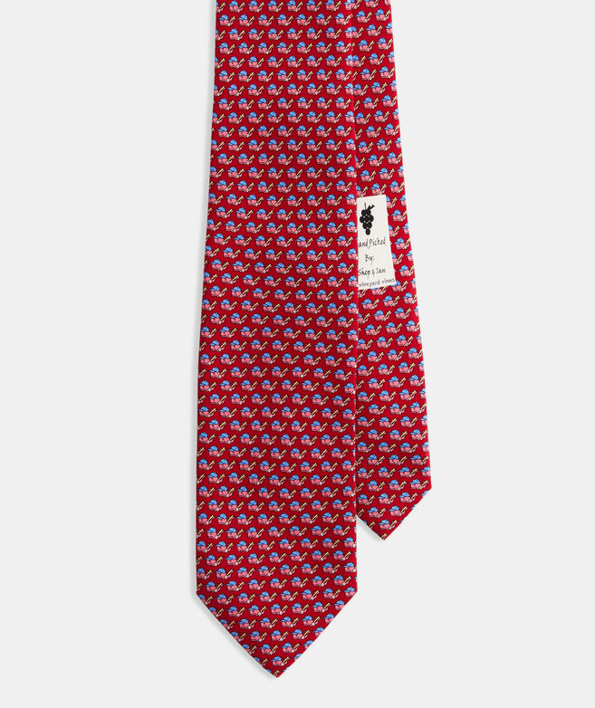 Boys' Baseball Character Whale Printed Tie